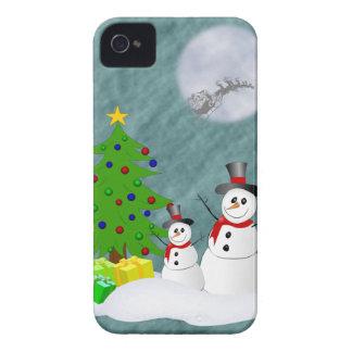 Caixa corajosa de Blackberry dos bonecos de neve Capa Para iPhone