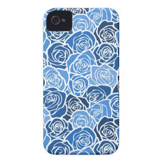 Caixa corajosa de Blackberry dos rosas azuis do Capa Para iPhone