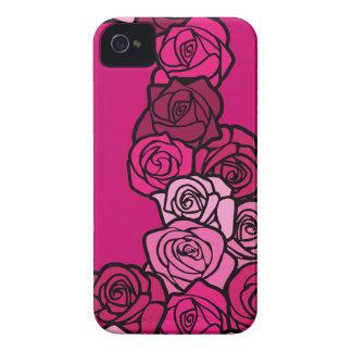 Caixa corajosa de Blackberry dos rosas cor-de-rosa Capinha iPhone 4