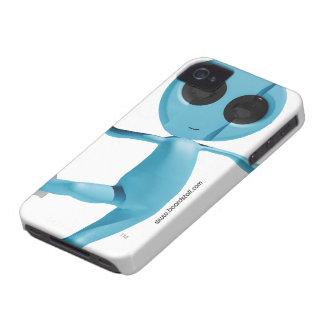 Caixa corajosa estrangeira azul de Blackberry da s