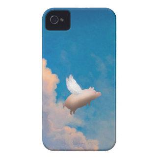 caixa da amora-preta do porco do vôo capas para iPhone 4 Case-Mate