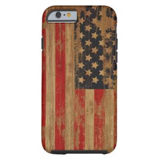 Caixa da bandeira americana capa tough para iPhone 6
