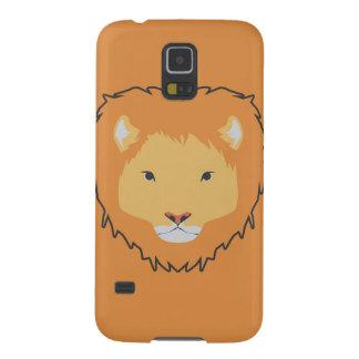 caixa da galáxia S5 de Samsung do oranye do leão Capas Par Galaxy S5