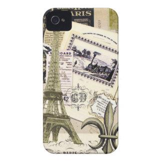 Caixa de Blackberry da colagem de Paris do Capa Para iPhone