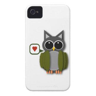 Caixa de Blackberry do amor da coruja Capinhas iPhone 4