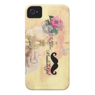 Caixa de Blackberry do Moustache Capa iPhone 4 Case-Mate