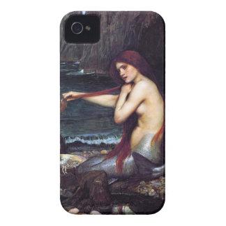 Caixa de Blackberry do Pre-Raphaelite da sereia do Capas Para iPhone 4 Case-Mate