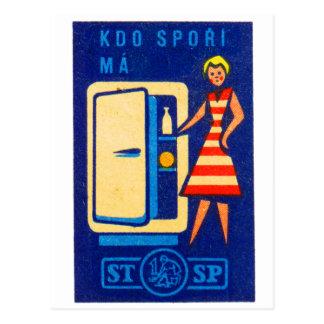 Caixa de fósforos de Checo do refrigerador do Cartão Postal