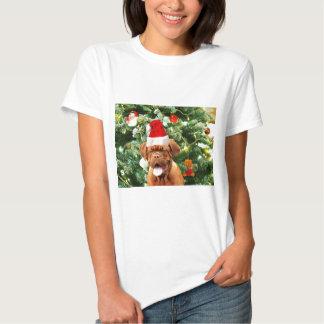 Caixa de presente do boneco de neve da árvore de tshirts
