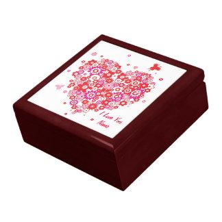 Caixa de presente do coração 1 da flor