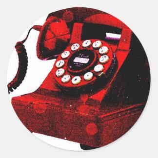 Caixa de telefone velha da mesa do pop art adesivo