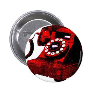 Caixa de telefone velha da mesa do pop art bóton redondo 5.08cm