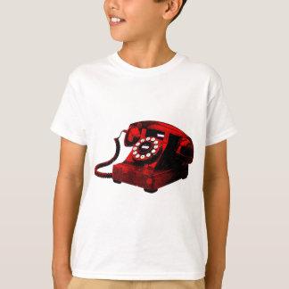 Caixa de telefone velha da mesa do pop art camiseta