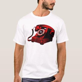 Caixa de telefone velha da mesa do pop art camisetas