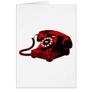 Caixa de telefone velha da mesa do pop art cartão