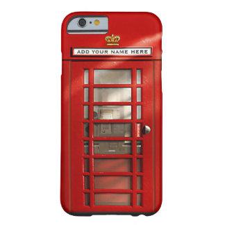 Caixa de telefone vermelha britânica personalizada capa barely there para iPhone 6