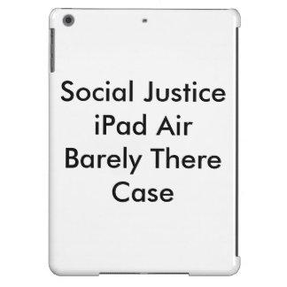 Caixa do ar do iPad de justiça social mal lá
