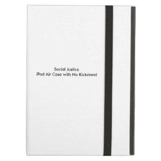 Caixa do ar do iPad de justiça social sem