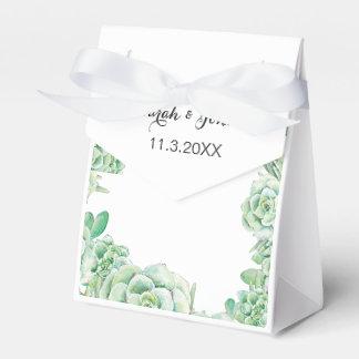caixa do favor do casamento do succulent da