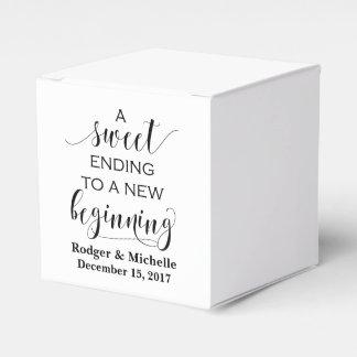 Caixa do favor do casamento - término doce ao caixinha de lembrancinhas