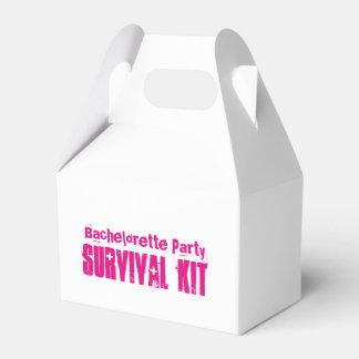 """Caixa do kit de sobrevivência da """"festa de caixinha de lembrancinhas"""