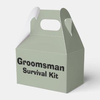 """Caixa do kit de sobrevivência do """"padrinho de"""