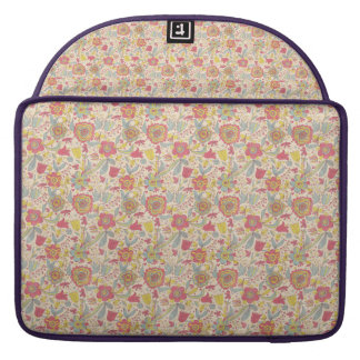 Caixa do laptop do teste padrão de flor bolsa MacBook pro