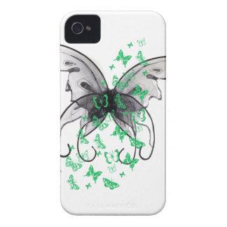Caixa do móbil da borboleta capa para iPhone 4 Case-Mate