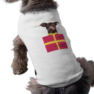Caixa do Pinscher diminuto Camisa Sem Mangas Para Cachorro