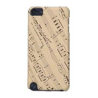 Caixa do speck do ipod touch da folha de música capa para iPod touch 5G