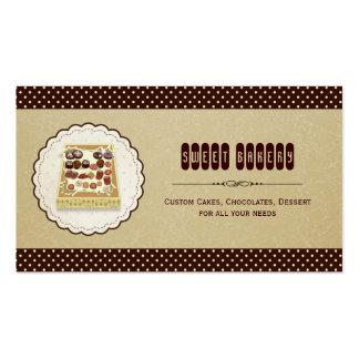 Caixa doce da padaria elegante castanho chocolate  modelo cartoes de visita