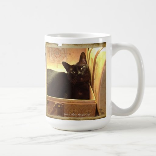 Caixa dourada de /Antique do gato Burmese, série 1 Caneca