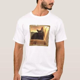Caixa dourada de /Antique do gato Burmese, série Camiseta