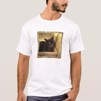 Caixa dourada de /Antique do gato Burmese, série T-shirts