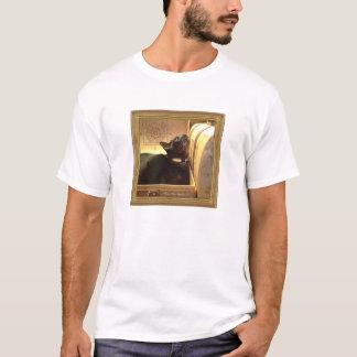 Caixa dourada de /Antique do gato Burmese, série Tshirt