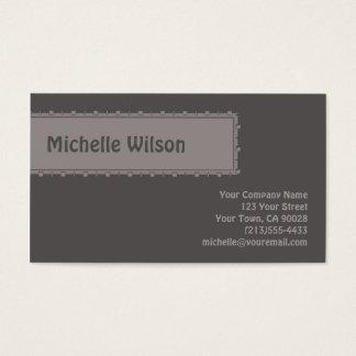 caixa escura da modificação do cinza cartão de visitas