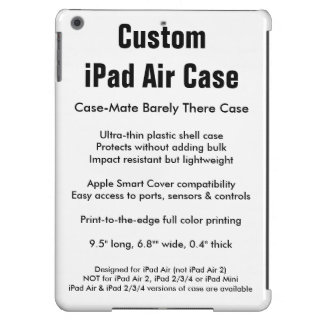 Caixa feita sob encomenda do ar do iPad - case