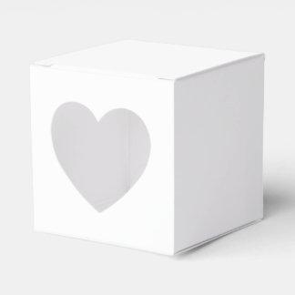 Caixa feita sob encomenda do favor 2x2 com coração