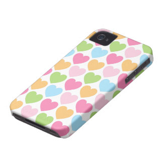 Caixa feminino de Blackberry dos corações bonitos Capinha iPhone 4