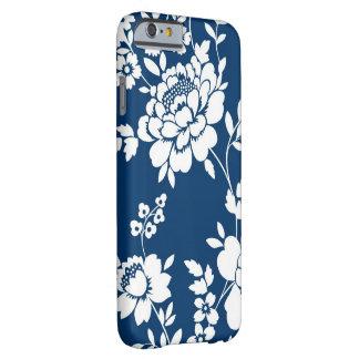 Caixa floral branca azul capa barely there para iPhone 6