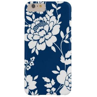Caixa floral branca azul capas iPhone 6 plus barely there