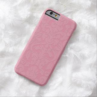Caixa gravada subtil cor-de-rosa do iPhone 6 do Capa Barely There Para iPhone 6