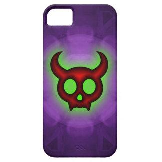 Caixa Horned vermelha do iphone 5 5S do diabo