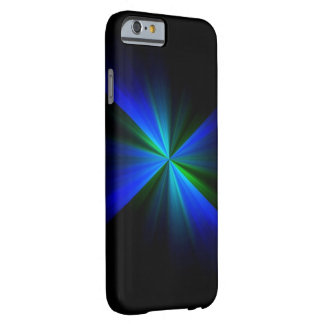 Caixa instantânea azul e verde do iPhone 6 Capa Barely There Para iPhone 6