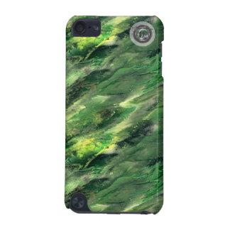 Caixa líquida verde do ipod touch 5g do camo