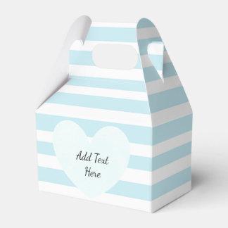 Caixa listrada azul e branca do deleite dos doces caixinha de lembrancinhas