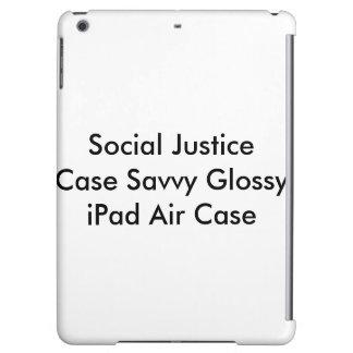 Caixa lustrosa esclarecido do ar do iPad do caso