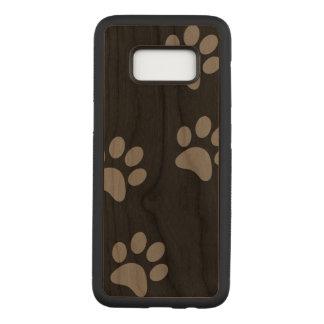 Caixa magro da madeira da cereja da galáxia S8 de Capa Carved Para Samsung Galaxy S8