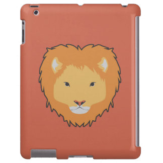 caixa marrom do ipad do leão capa para iPad