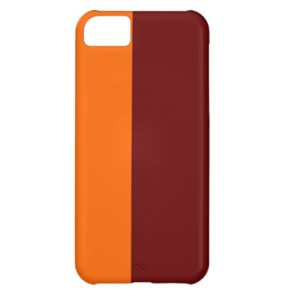 Caixa marrom e da laranja mal lá do iPhone 5 Capa Para iPhone 5C